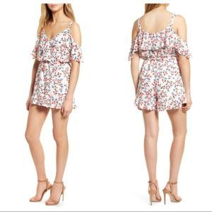CUPCAKES AND CASHMERE audrian floral romper L